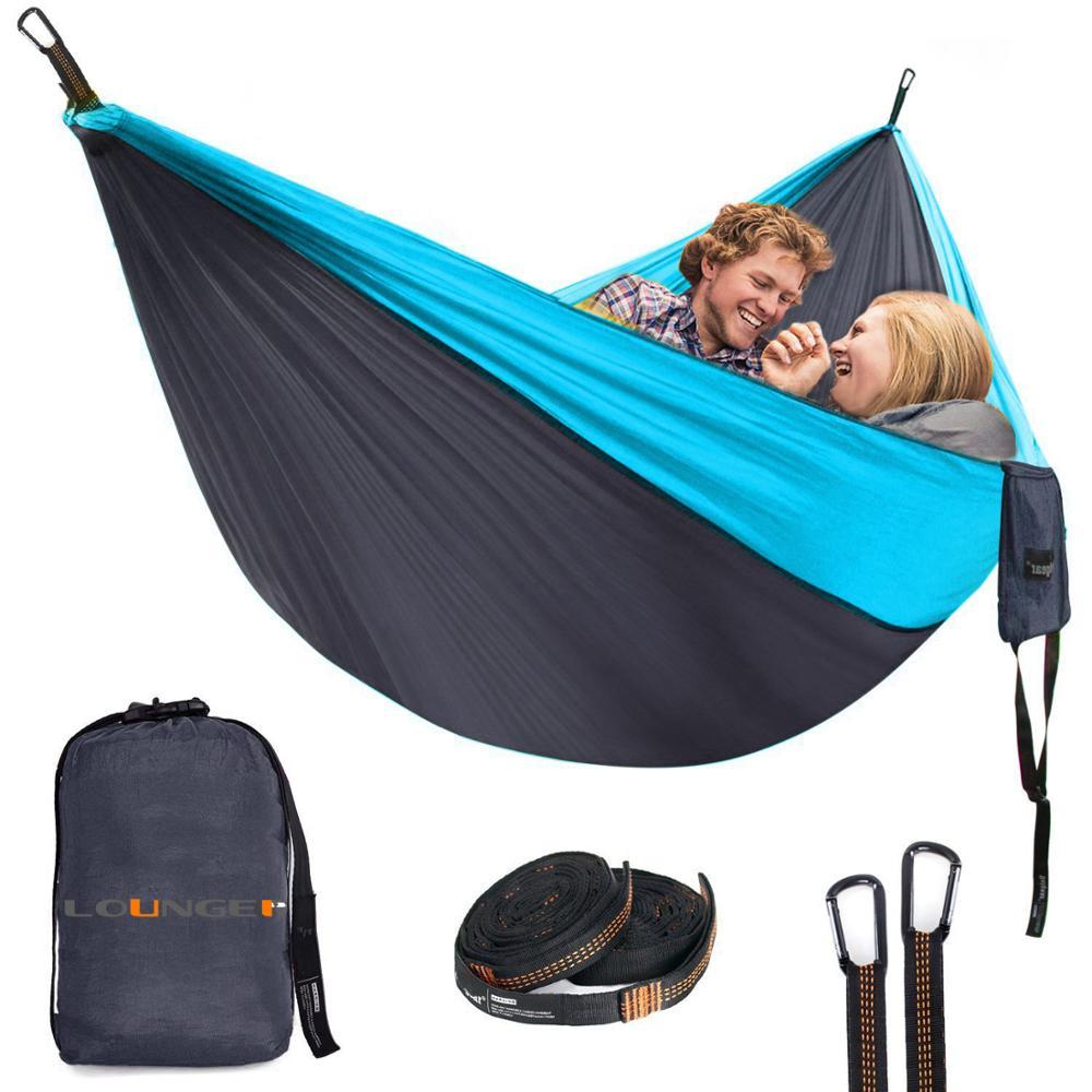 Weichsten nylon tragbare camping hängematte