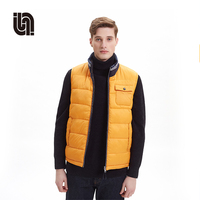 wholesale custom fashion winter warm men reversible down vest