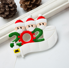Gift Decoration Family 2020 Personalized Gift Christmas Tree Decoration Kit Resin Diy Pendant Hanging Quarantine Survivor Family Ornament