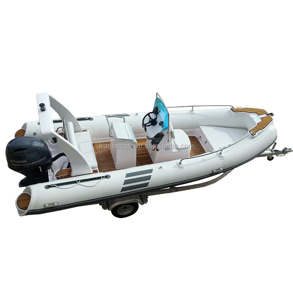 CE Certificate PVC rigid fiberglass hull inflatable sailing yacht for sale