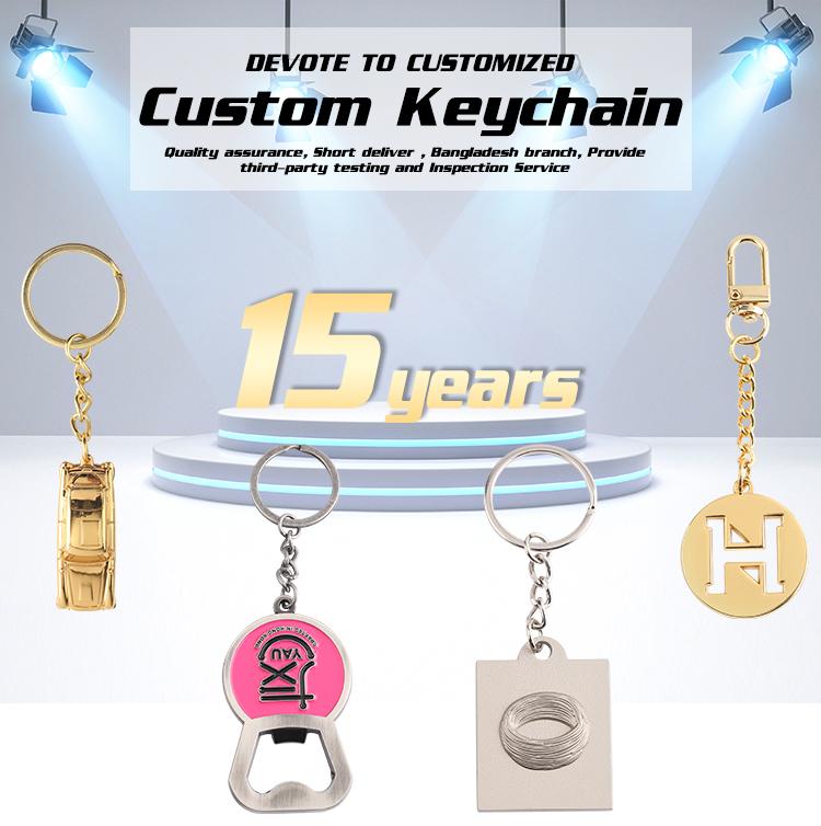 Custom Metal Non Contact No Touch Hygiene Retractable Carabiner Brass Door Opener Keychain