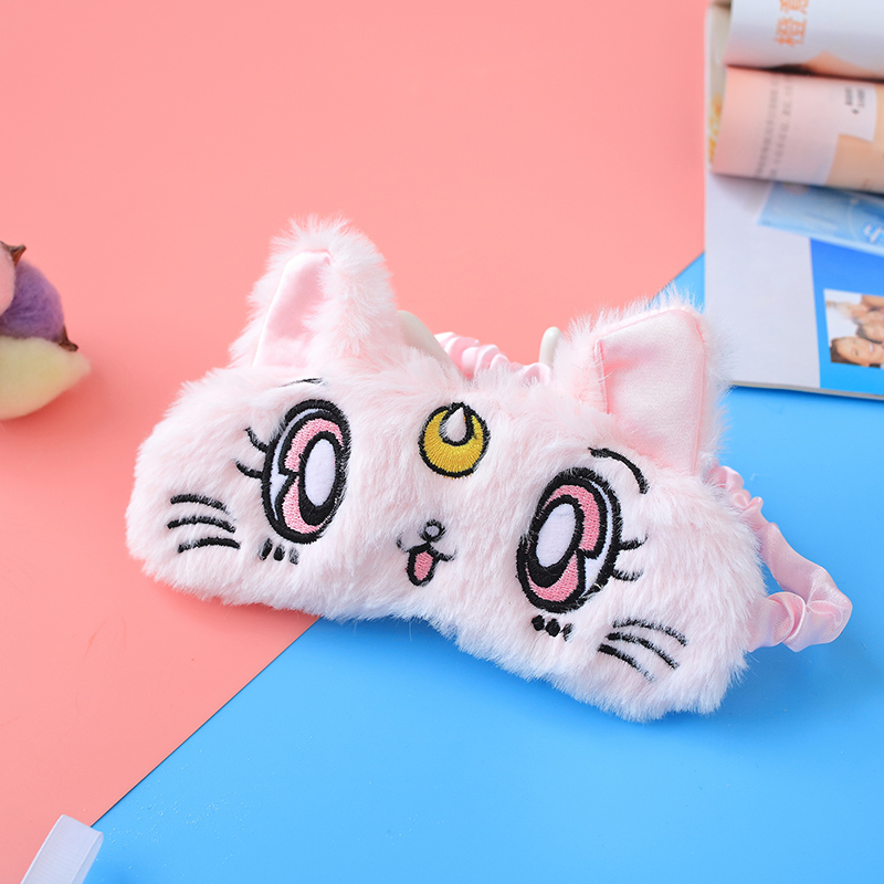 Super นุ่ม beauty นักรบ luna cat sleep eye mask