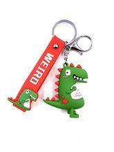 Прекрасный мультфильм брелок для ключей Динозавры Животные кольца для ключей сумка аксессуары детские подарки(Китай)