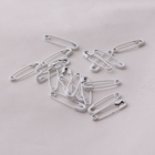 Clothes Safety Pin Factory Supply White Color 19mm Small Metal Hangtag Safety Pin for Garments