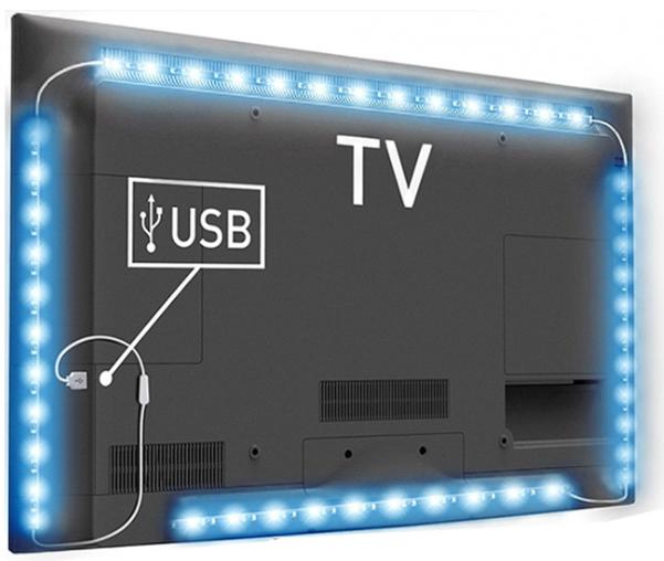 Ebay Hot Sales 5V IP65 Waterproof RGB TV Bike Car Back Decor 2m USB Flexible Strip Lights