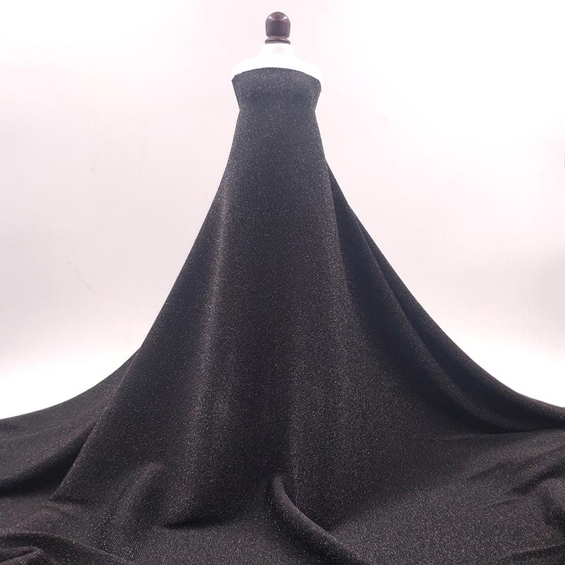 Высокая эластичность вязать 4 way stretch металлическим люрексом спандекс ткань для танцев