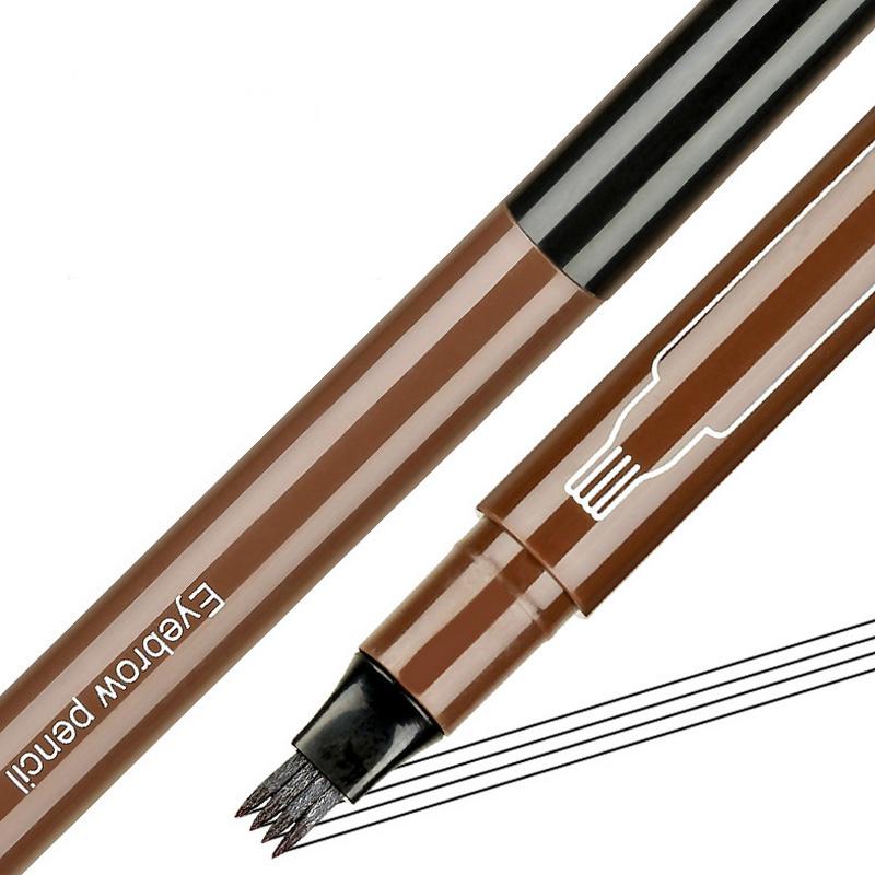 OEM Gabel Augenbraue Bleistift Tattoo Wasserdicht Lang Anhaltende Dauer Microblading Flüssigkeit Augenbraue Stift Vier-headed augenbraue bleistift