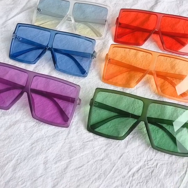 HANSIDON Square fashion Latest sunglasses women Oversized Gradient color Womens sunglasses 2020