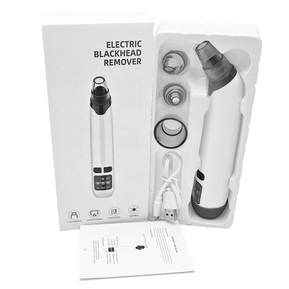 4 in 1 Facial Pore Deep Cleaning Electric Rechargeable Vacuum Suction Blackhead Remover Vacuum