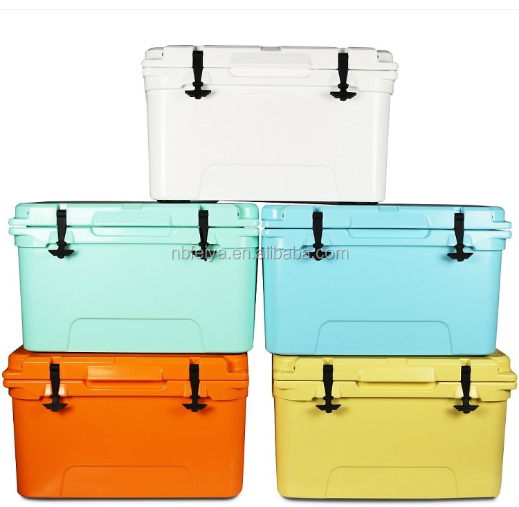 Durable frozen Seafood Storage Container 65L Transport Rotomolded Marine Fish Large Cooler Box