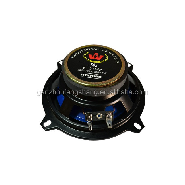 Wholesale 12V Car Sound System Audio Speaker Woofer 180W 5 inch Coaxial Speaker Magnet