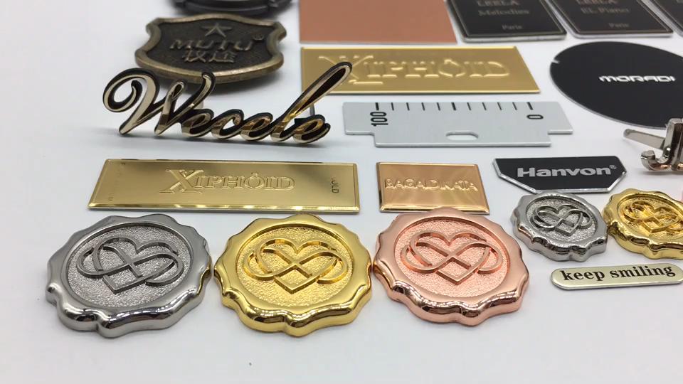 Stamping stainless steel nameplate, drawing plate laser engraving, etching hollow logo card customization