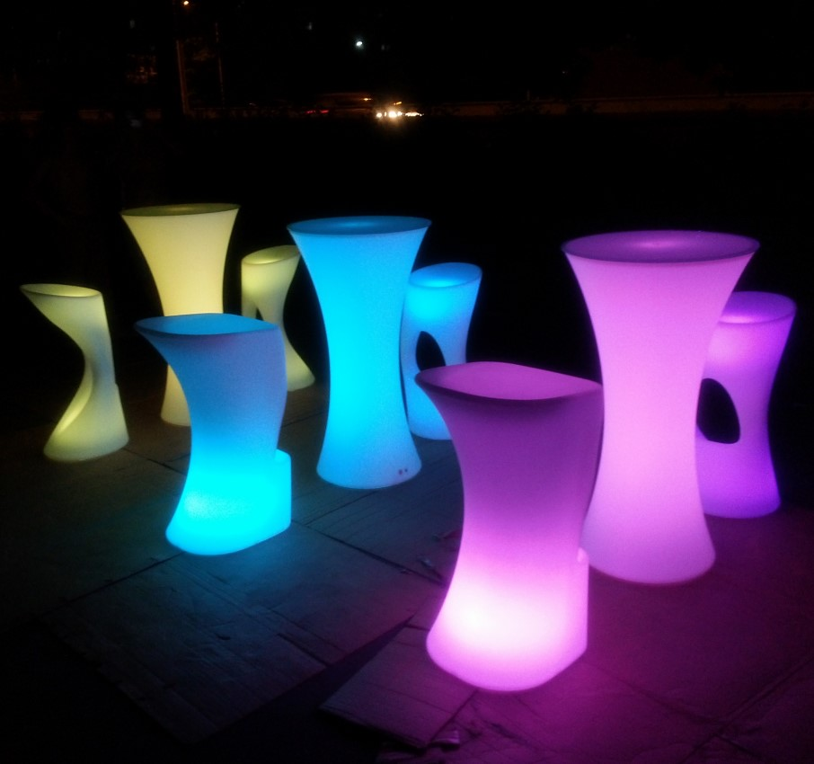 luminous cocktail table / glow mobile cocktail bar counter/ led portable cocktail