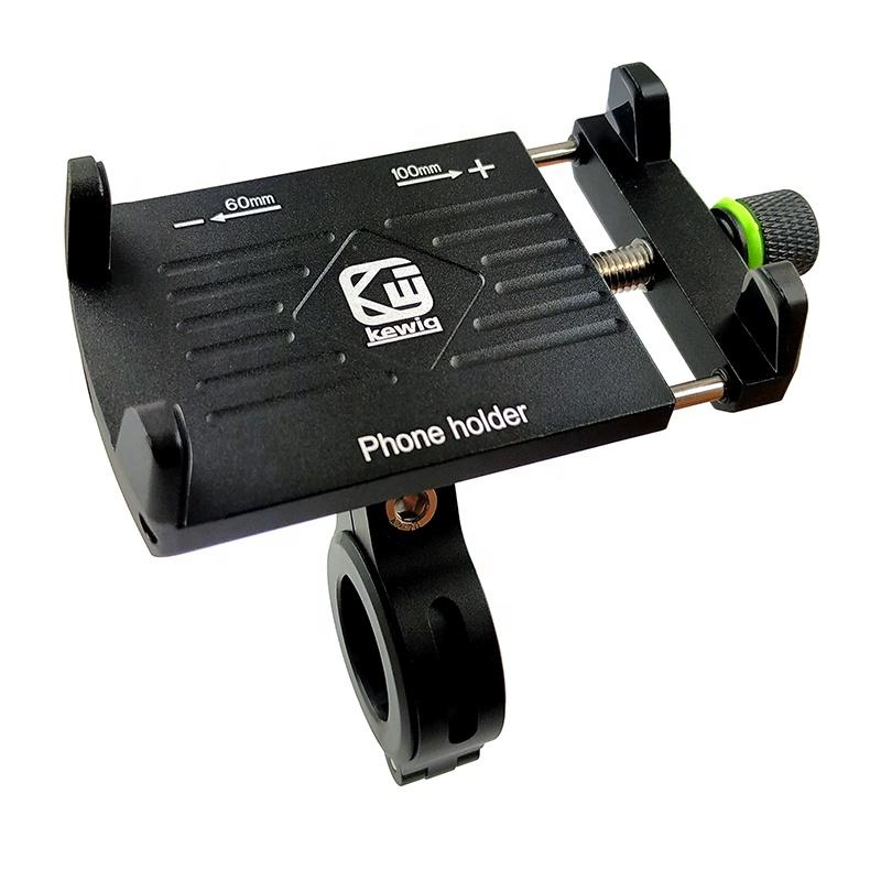 Amazon hot sale Aluminum bicycle e-bike handlebar cell phone mount bike phone holder