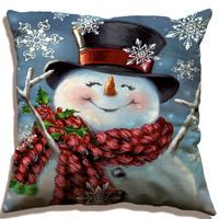 Merry Christmas series decoration cotton linen pillow cushion cover for gift