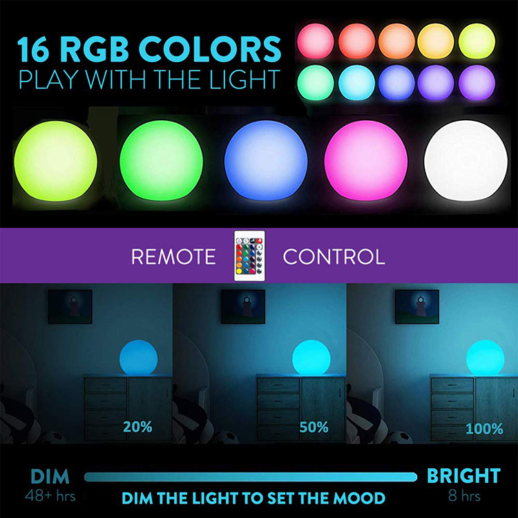 Holiday lighting LED ball sphere decorative light for wedding event & party supplies