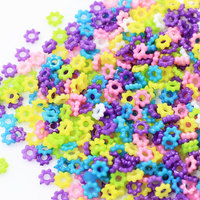 4MM Small Daisy Spacer Beads Acrylic Plastic Daisy Flower Loose Spacer Beads Assorted Color Beads DIY Craft Jewelry Supplies