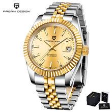 PAGANI дизайнерские брендовые 100 м водонепроницаемые спортивные часы с календарем и сапфиром Rolexable Мужские автоматические механические часы ...(Китай)