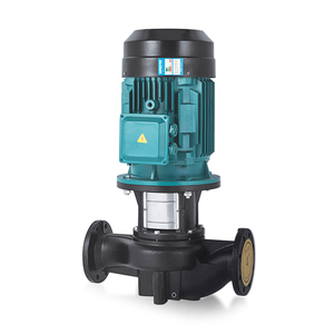 Vertical in line pipeline booster centrifugal pump for hot water