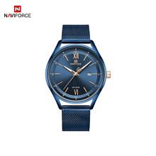 Бренд NAVIFORCE, роскошные женские и мужские наручные часы, водонепроницаемые, нержавеющая сталь, модные, кварцевые, подарок для жены или мужа, ч...(Китай)