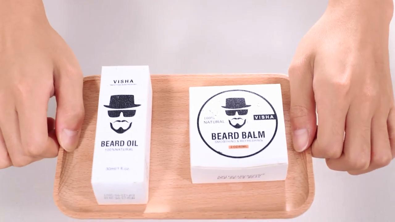 カスタム製剤パーソナルプライベートラベル有機メンズひげケアセットひげ成長オイルとひげバーム