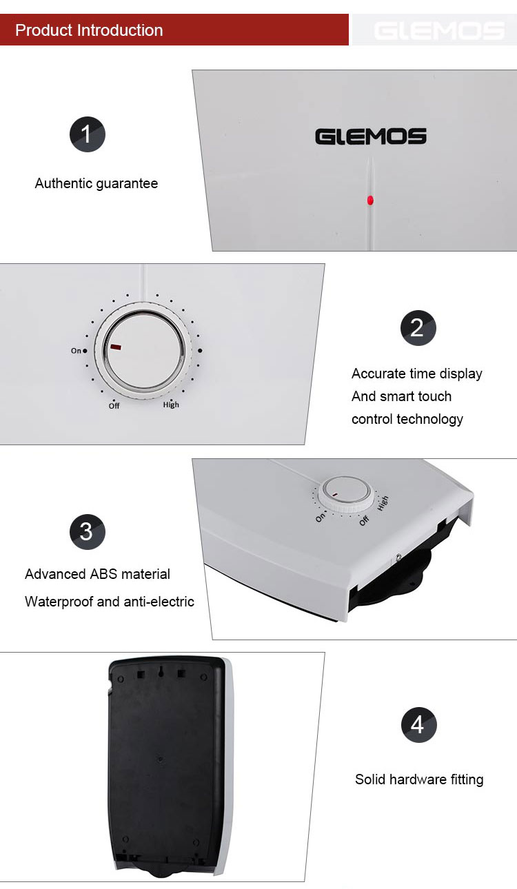 Energy saving Instant water heater electric boiler for shower