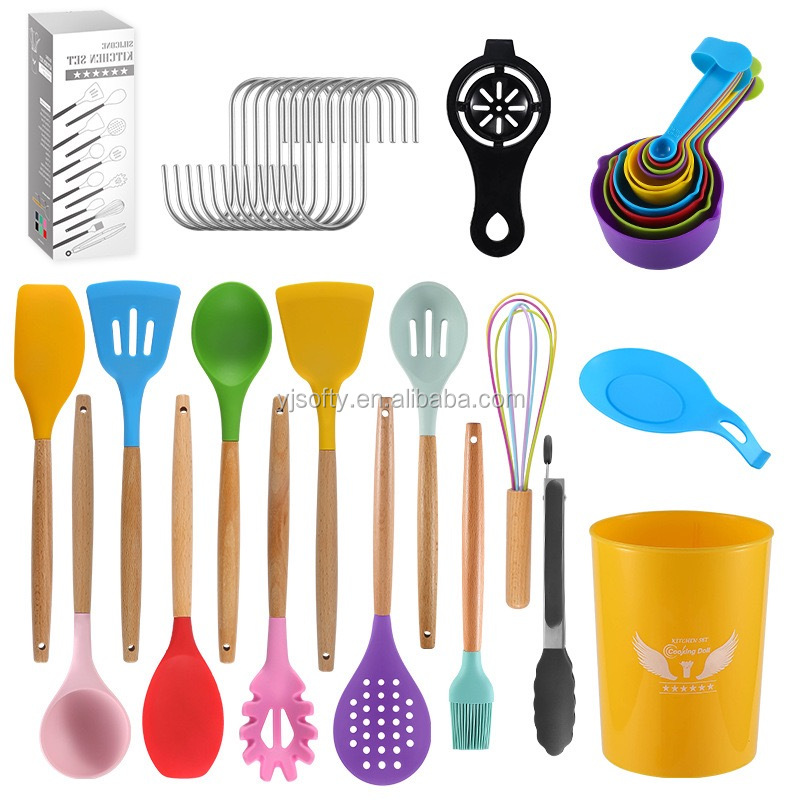 New Arrival 12 38 Piece Colorful Kitchen Accessories Set Silicone Tools Utensils With Holder Tools Kitchenware Cooking Set Buy Utensil Kitchen Set Silicone Cooking Utensil Set Colorful Kitchen Utensils Set Product On