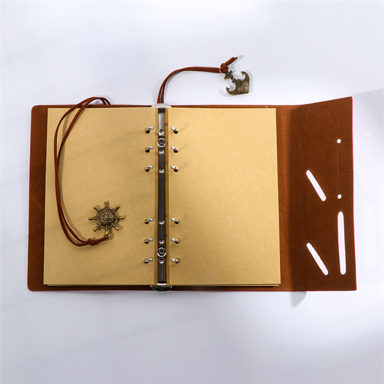 Vintage Spiral ไดอารี่ Notepad Sketchbook Travel เขียน,กระดาษ Unlined,จี้ Retro,Classic Embossed
