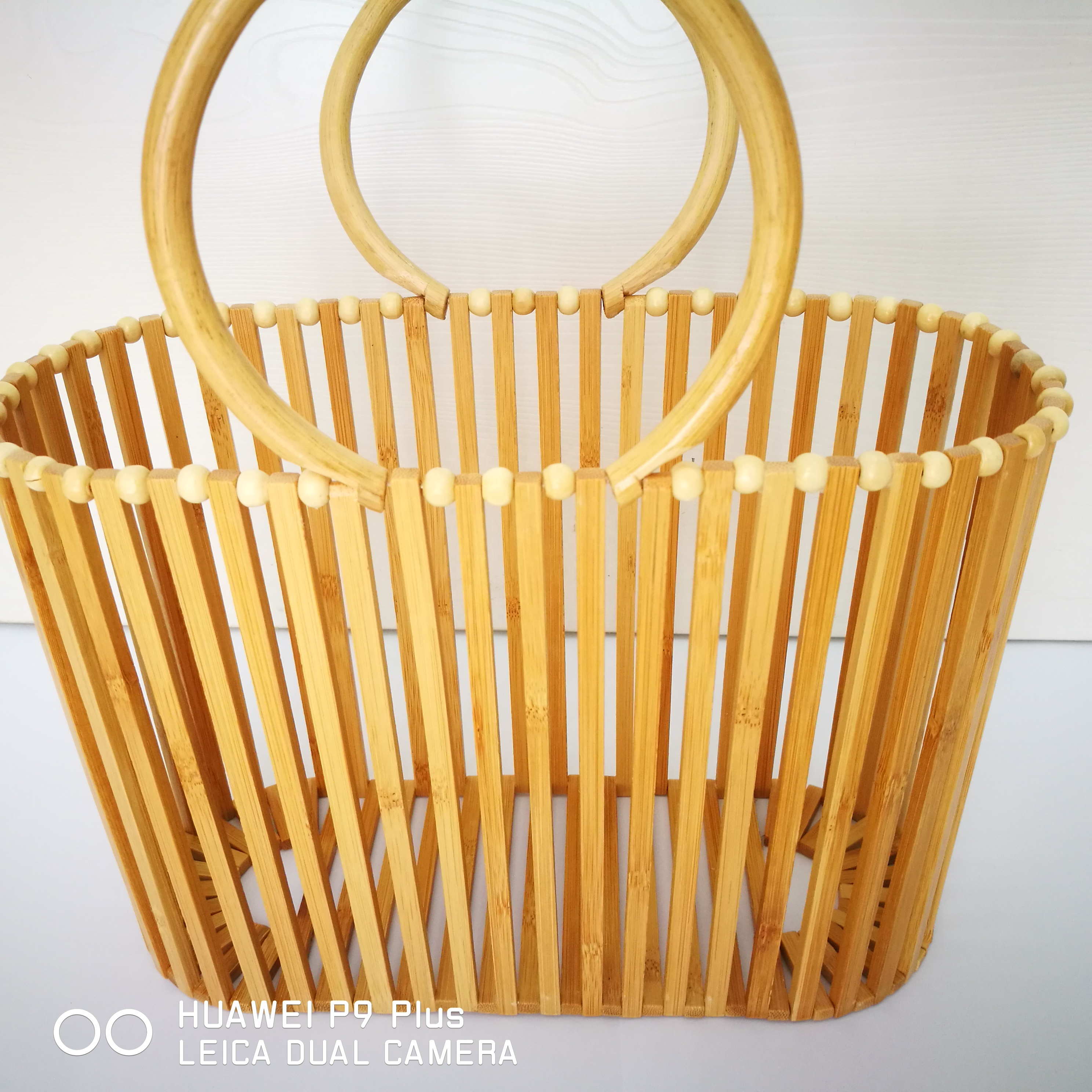 Summer 2020 new bamboo bag ring rattan handbag bamboo beach bag