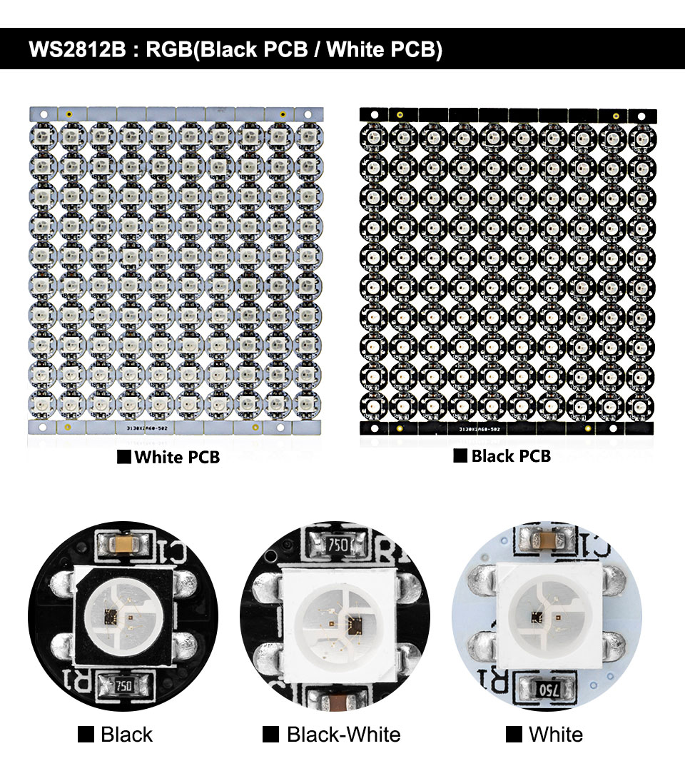 High brightness addressable 5050 ws2812b led chip for decoration
