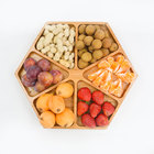 Wholesale Cheap Bamboo Snack Serving Plate for Nuts  Appetizer  Snack and Breakfast