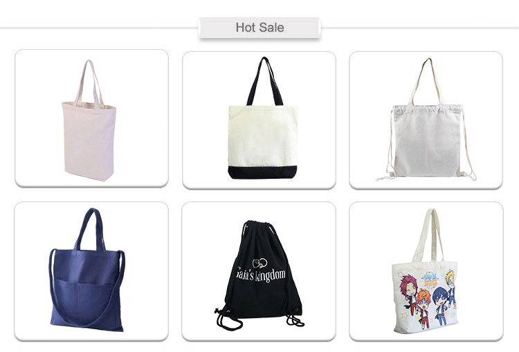 Custom Logo Advertising Full Cotton Color Printing Environmental Protection Canvas Tote Bag With Pocket