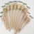 Multi size Practical Long Handle Wooden Honey Spoon Mixing Stick Dipper For Honey Jar Coffee Milk Tea