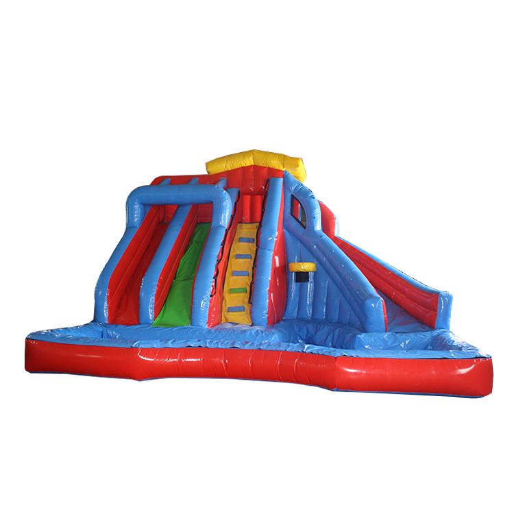 ほとんど人気バンザイインフレータブルウォータースライド N 浸しスプラッシュ公園子供インフレータブルウォーターパーク屋外