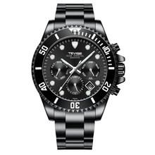TEVISE механические часы, мужские многофункциональные автоматические часы, мужские спортивные водонепроницаемые черные полностью стальные ч...(Китай)