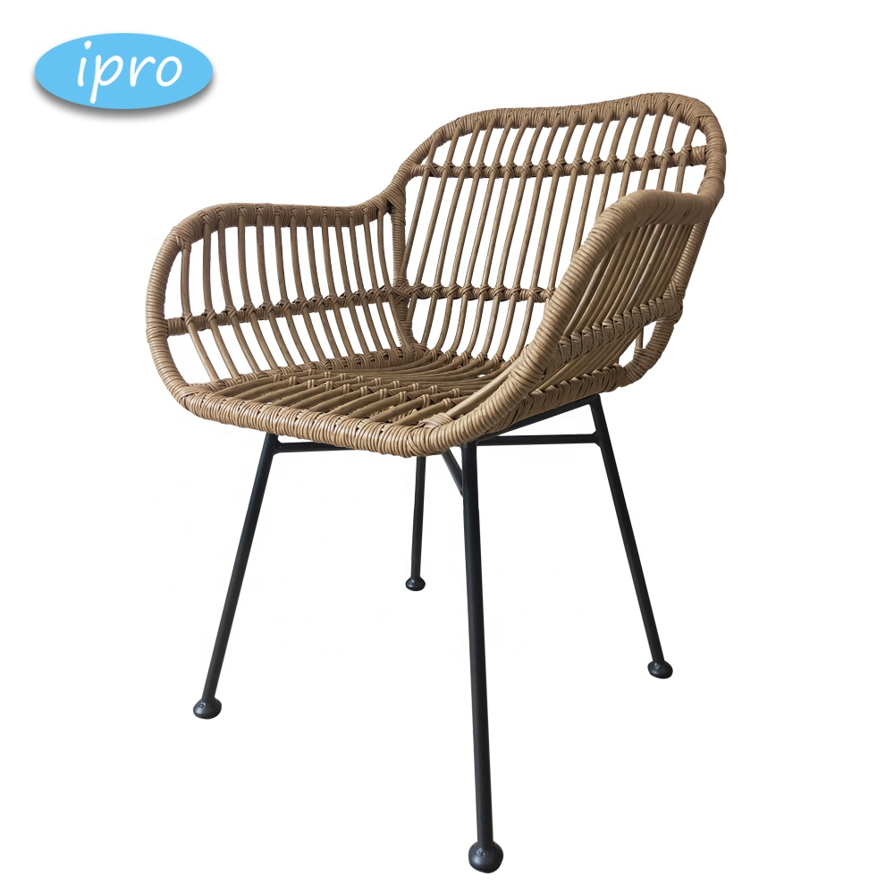 Wicker Leisure Outdoor Furniture Waterproof Swimming Pool Beach / Manufacturers French Bistro Rattan Chairs
