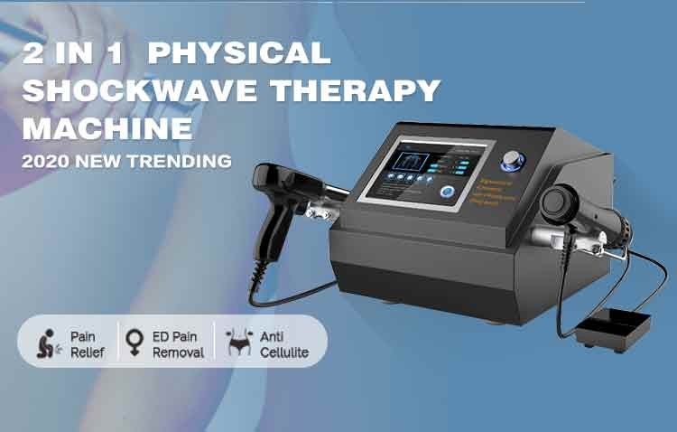 2 in 1 pneumatic/ electromagnetic shockwave therapy machine