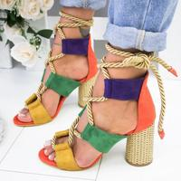 sh10269a Sexy girls latest high heel sandals 2019 lace up design women heels shoes in china