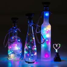 10/20 светодиодный светильник на солнечной энергии в форме пробки для бутылки вина, Звездный светильник, декор для бутылки вина, водонепрониц...(Китай)