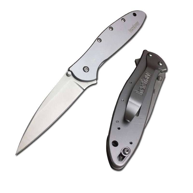 Kershaw 1660 leek all steel handle 8CR13MOV stainless steel blade outdoor camping outdoor survival hunting fishing folding <strong>knife</strong>