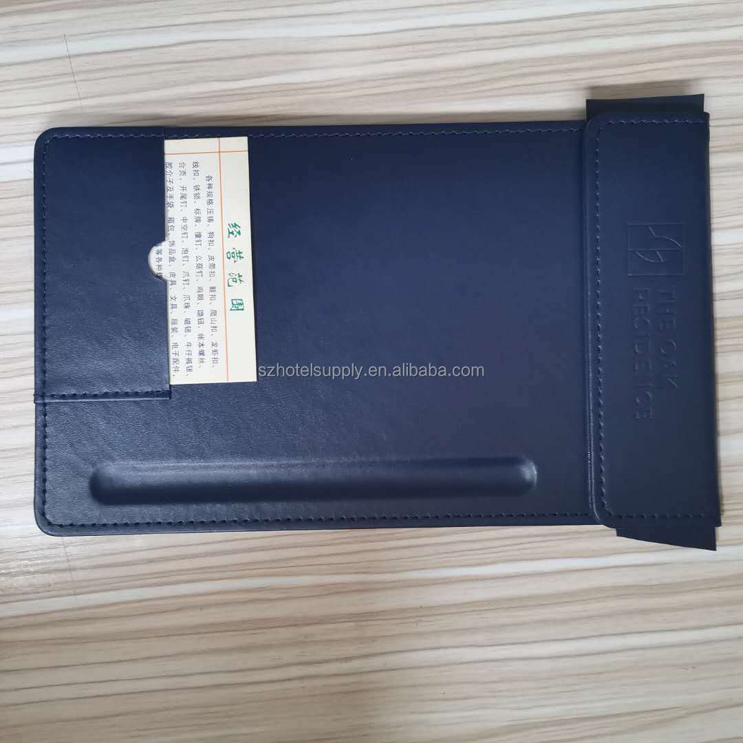 fashion leather clipboard folder pu leather notepad folder