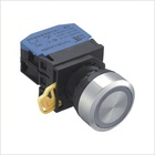Flat Head Button LED Plastic Push Button Switch
