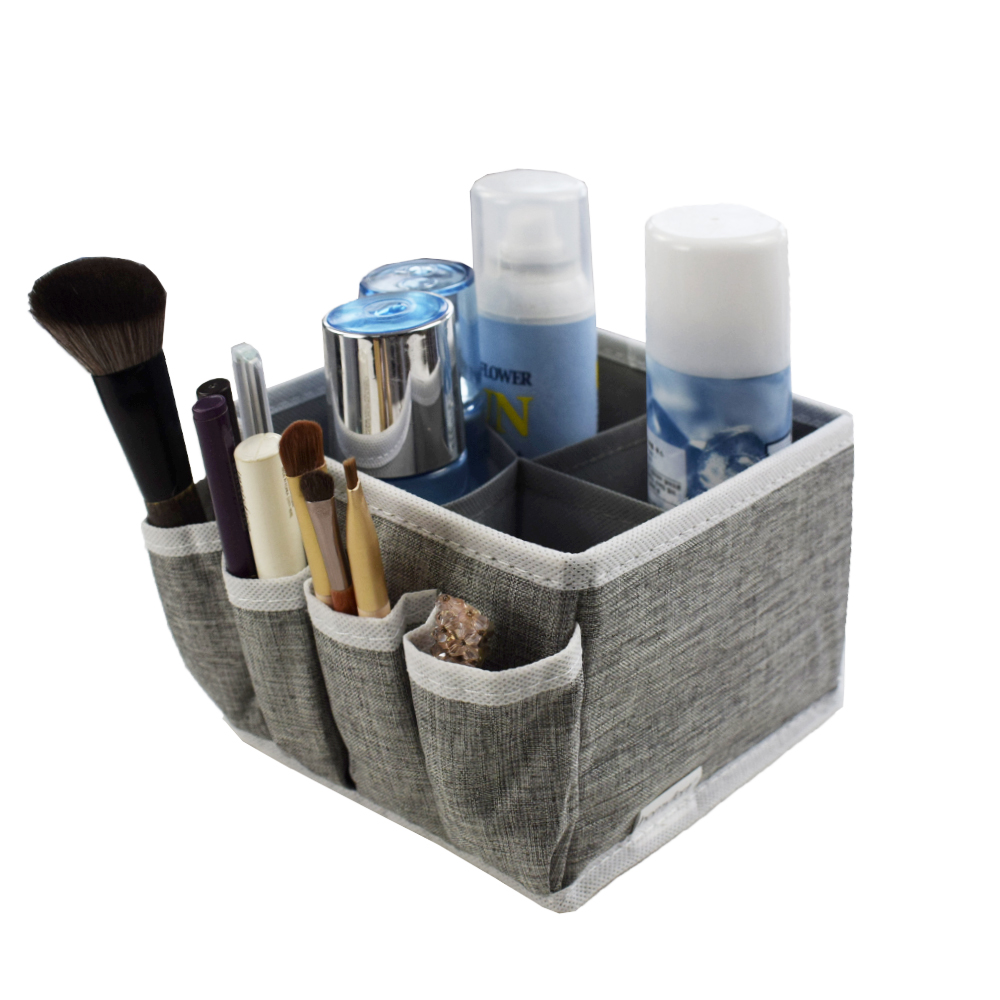 Non Woven Stoff Folding Kosmetik Storage Box Schmuck Make-Up Organizer Box Pinsel Halter Schmuck Organizer Für Desktop