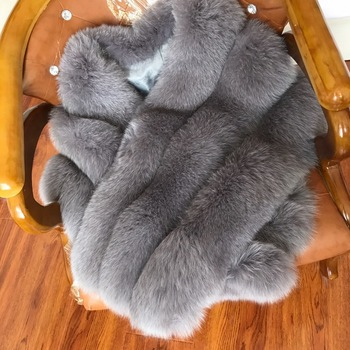 winter faux fur pocket scarf cape for women