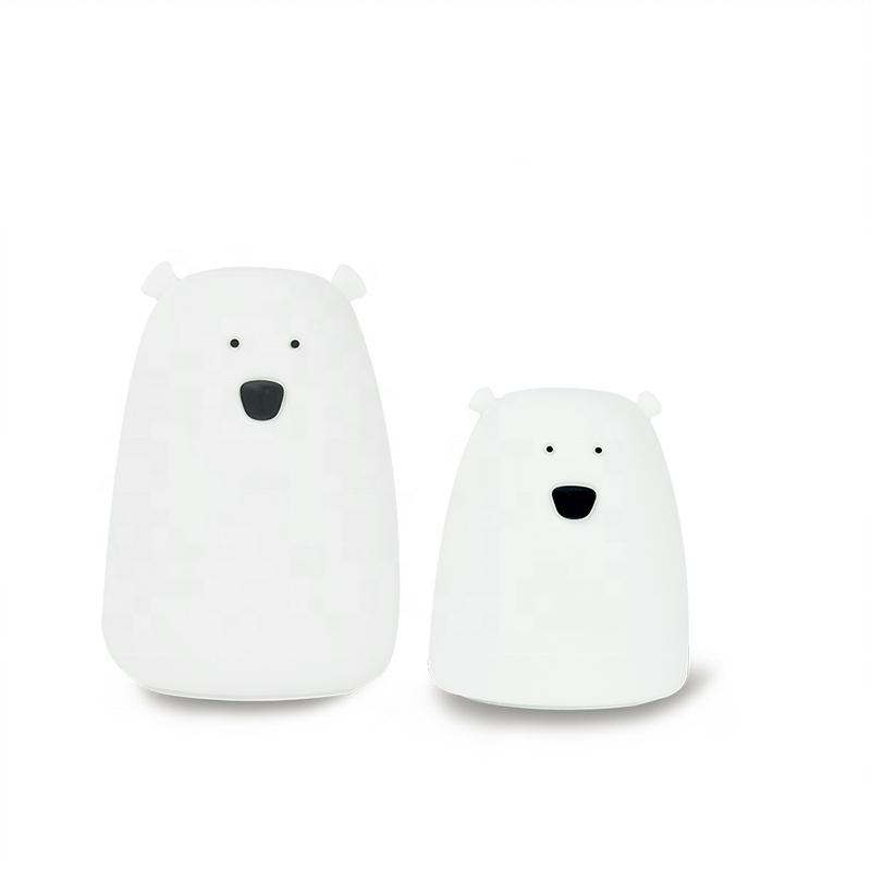 7 Colors Bear LED USB Children Animal Night Light Silicone Soft Cartoon Baby Nursery Lamp Breathing LED Night Light