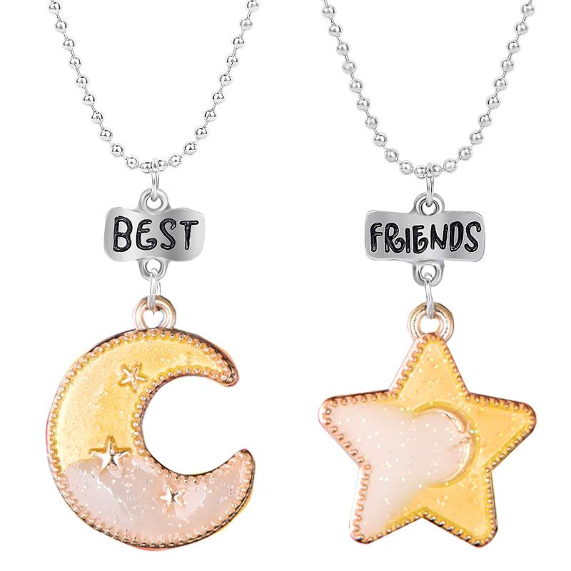couple Soeur Collier Enclenchement Cercle Collier Minimaliste Cadeau pour Maman