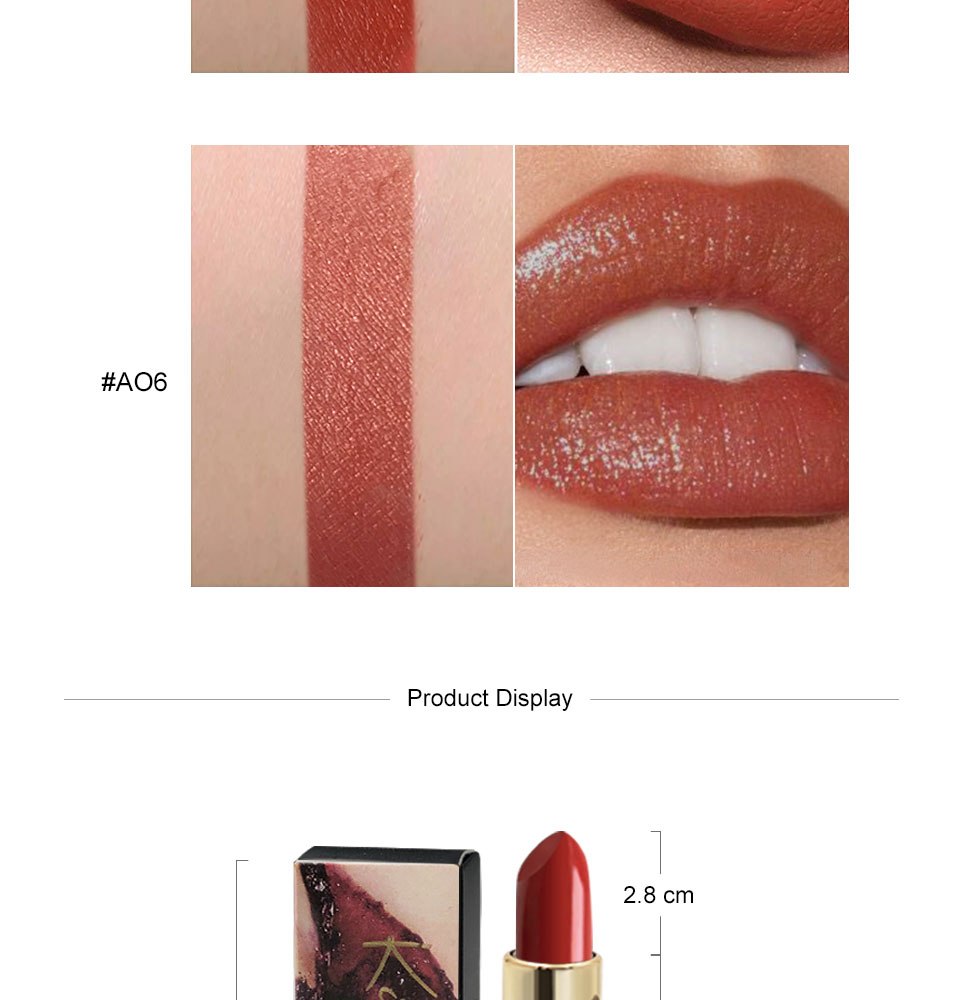 Waterproof Women Lipstick Cosmetics 6 Color Red Lip Stick Matte Makeup Long Lasting Nude Lipstick