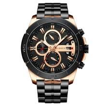 CURREN 8337 мужские часы золотые Роскошные брендовые наручные часы из нержавеющей стали Хронограф Кварцевые часы для военных часов Relogio Masculino(Китай)