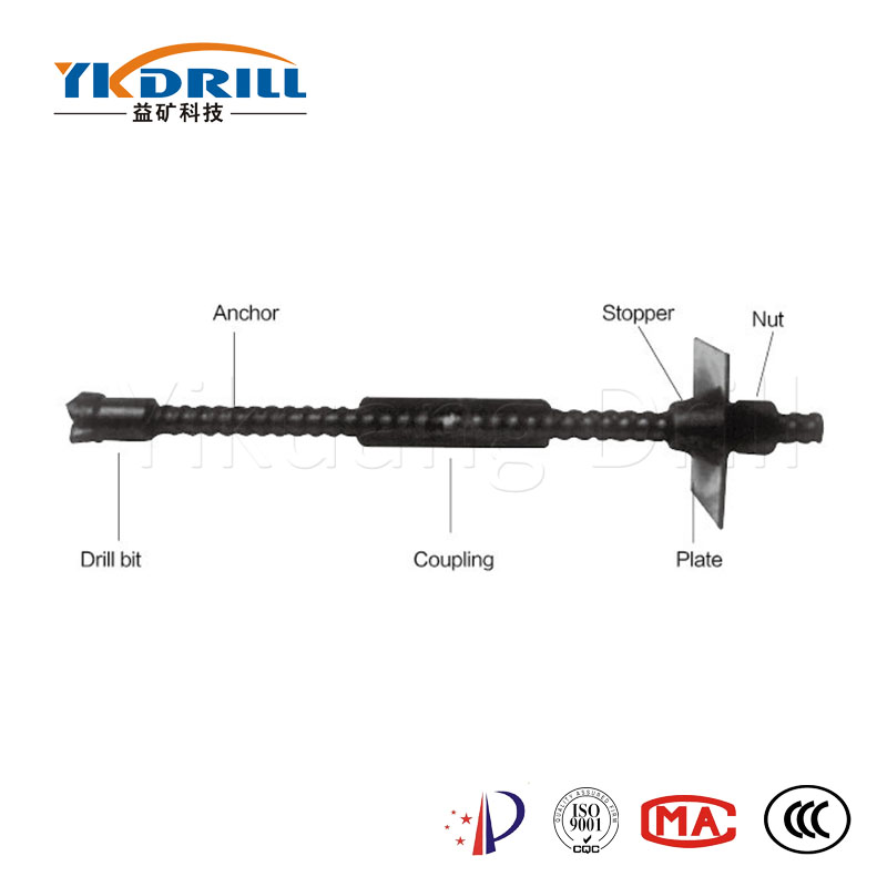 Good Quality anchor drill tools 51mm R32 threaded button bit for slope stabilization