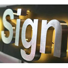 logo sign backlit metal sign diy advertising outdoor led open sign luminous word metal channel letter